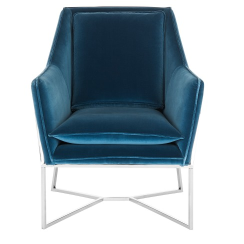 Accent Chairs  Royal Blue - Safavieh - image 1 of 3