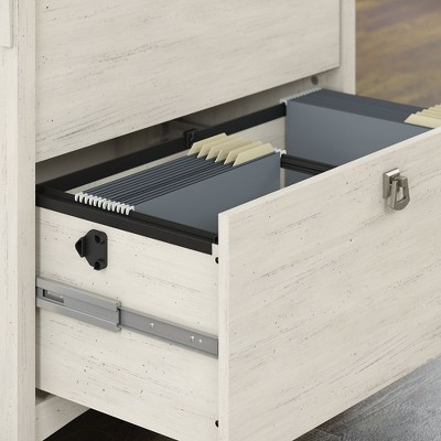Bush Furniture Salinas 2 Drawers File Cabinet In Antique White