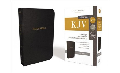 Holy Bible : King James Version, Reference, Imitation Leather, Black, Red Letter Edition (Paperback) - image 1 of 1