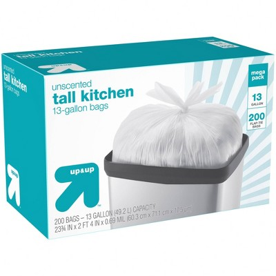 Tall Kitchen Flap Tie Trash Bags - 200ct - up & up™
