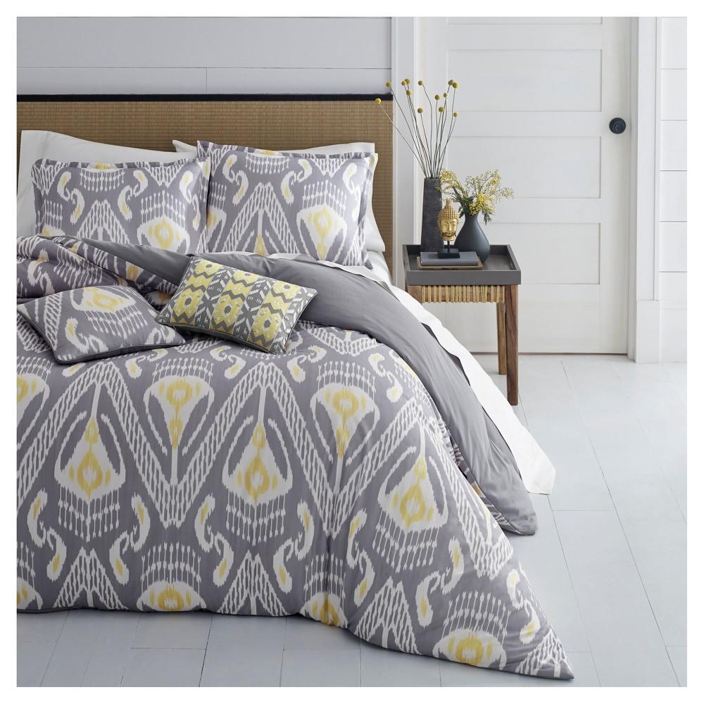 Grey Global Ikat Duvet Cover Set (King) - Azalea Skye, Multicolored