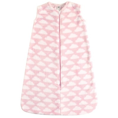 Hudson Baby Infant Girl Plush Sleeping Bag, Sack, Blanket, Pink Clouds Plush