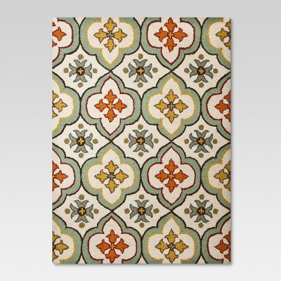 Hooked Floral Bell Accent Rug - Cream (1'8 x2'10 )- Threshold™