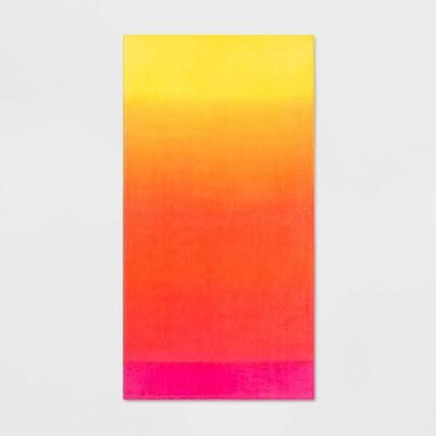 Ombre Warm Beach Towel Orange - Sun Squad™