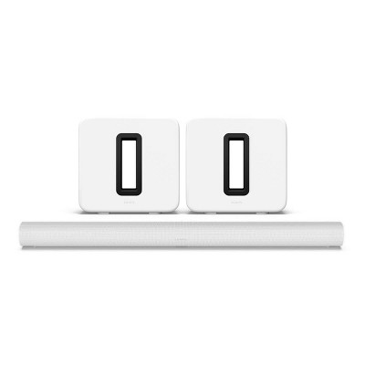 Sonos Entertainment Set with Arc Wireless Dolby Atmos Sound Bar and Gen 3. Subwoofers - Pair