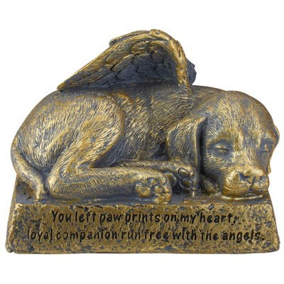 "Roman 6"" Pawprints on My Heart Dog Bereavement Outdoor Statue"