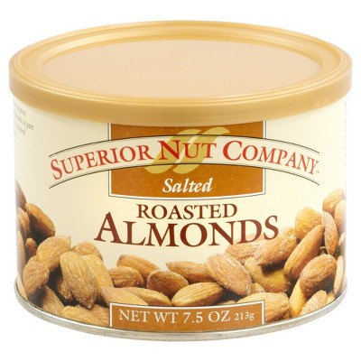 Superior Nut Salted Roasted Almonds - 7.5oz - 12 ct