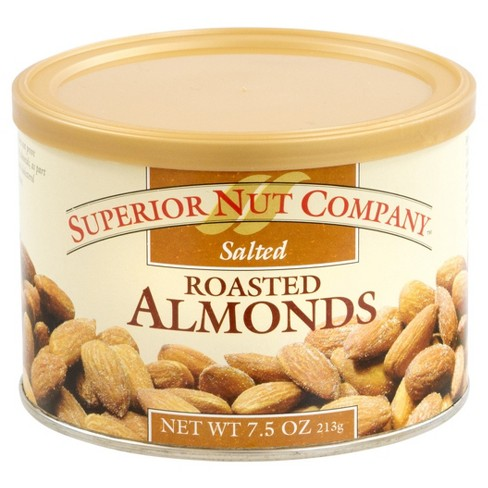 Superior Nut Salted Roasted Almonds - 7.5 oz - 12 ct - image 1 of 1