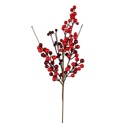 """Vickerman 18"""" Artificial Red Berry Pick, Set of 3"""