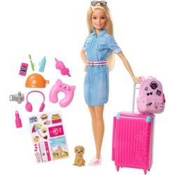 Barbie Travel Doll & Puppy Playset