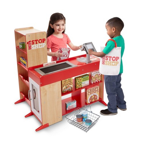 Melissa & Doug Deluxe One Stop Shop Play Store Set - 63pc - image 1 of 4