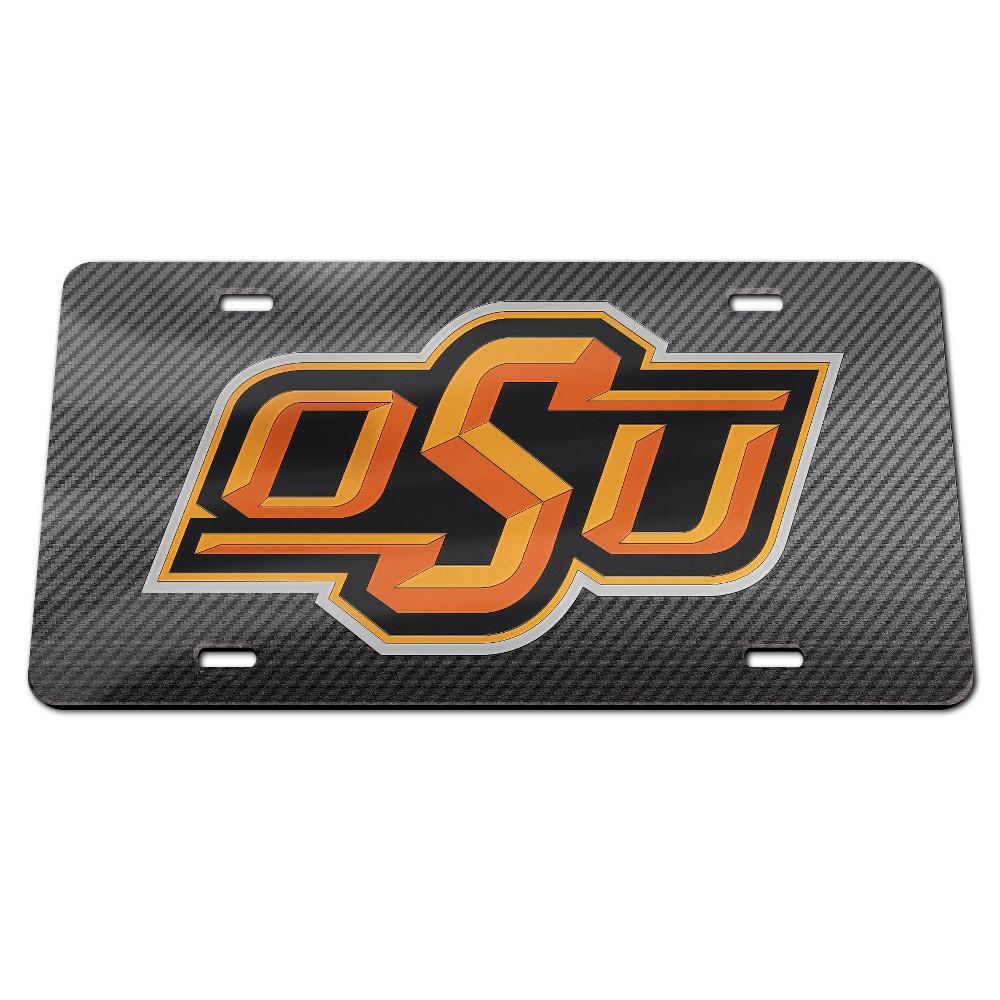 NCAA Oklahoma State Cowboys Carbon License Plate Frame
