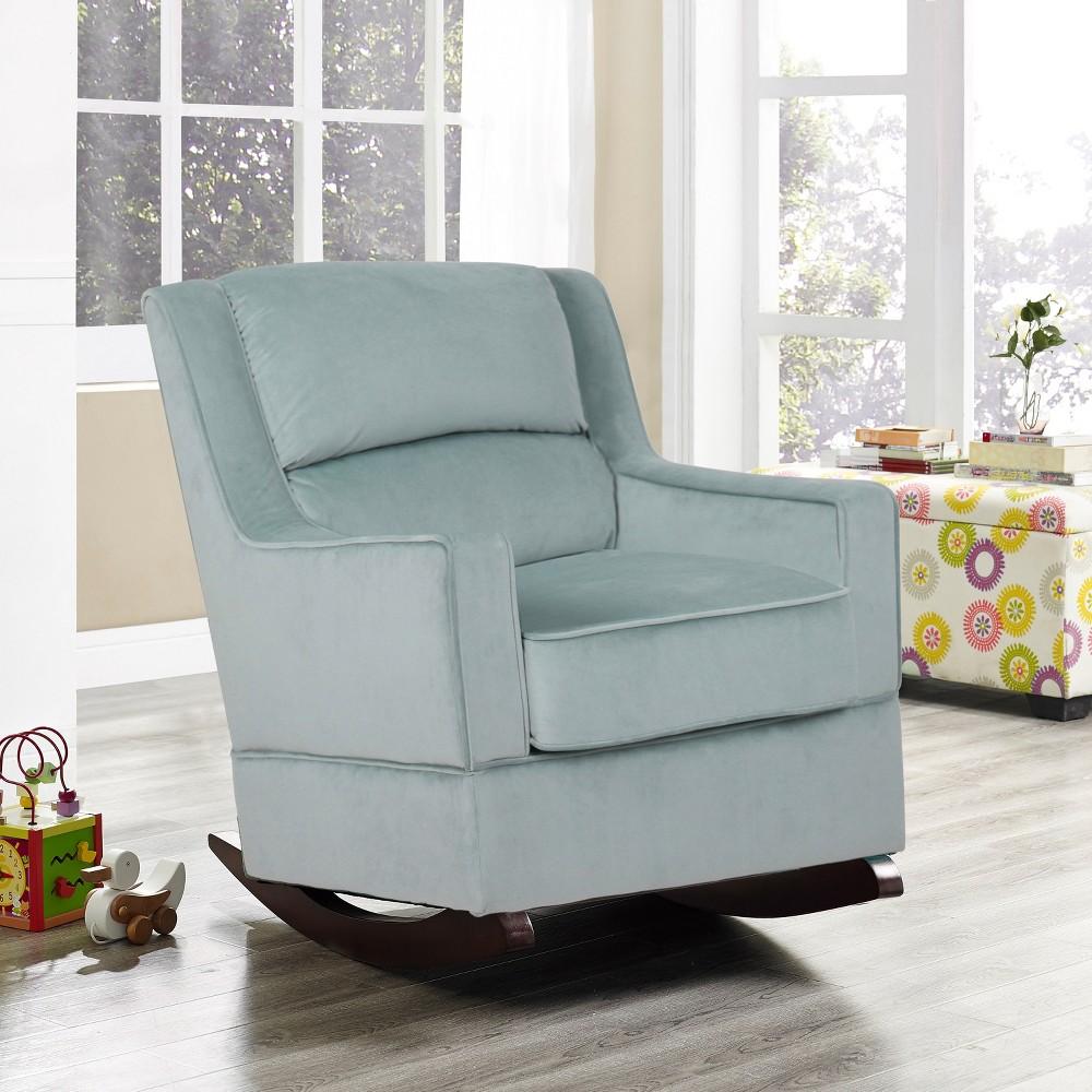Riley Nursery Rocking Chair Light Blue- Relax A Lounger, Light Sky Blue