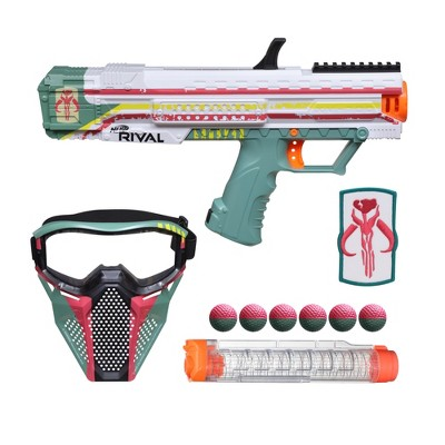 Nerf Rival Star Wars Apollo XV-700 Blaster, Face Mask, Boba Fett Insignia Patch, 7 Nerf Rival Rounds