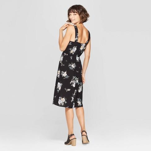 98a3263b7759 Women s Floral Print Strappy Square Neck Midi Dress - Xhilaration™   Target