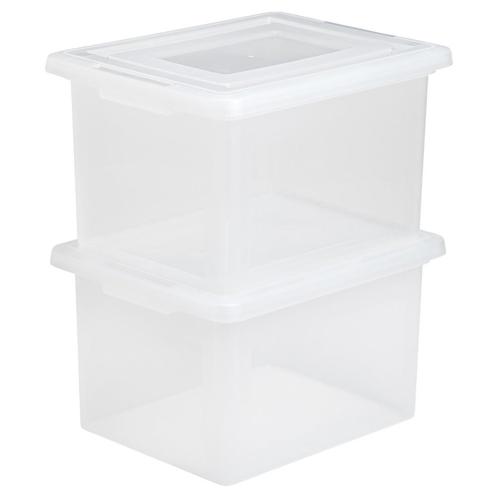 Iris File Box - 4pk, Clear