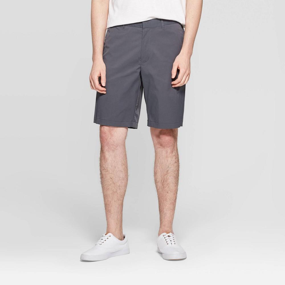 Men's 10.5 Chino Shorts - Goodfellow & Co Charcoal (Grey) 34