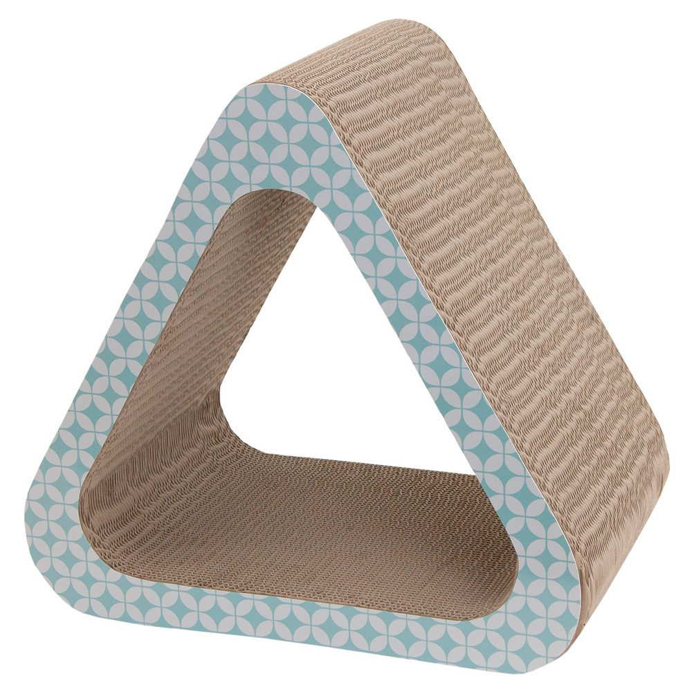Solid Triangle Cat Scratcher - Gray - Boots & Barkley