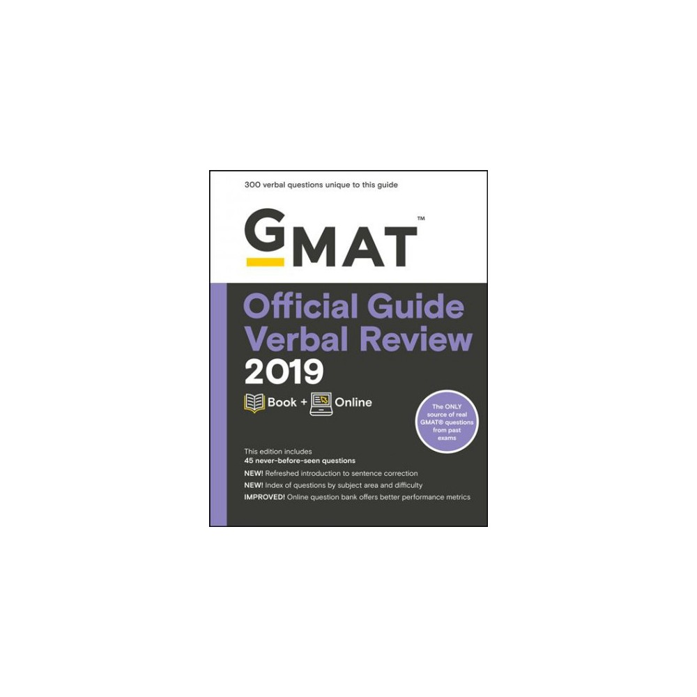 Gmat Official Guide Verbal Review 2019 : Includes Online Content - Pap/Psc (Paperback)