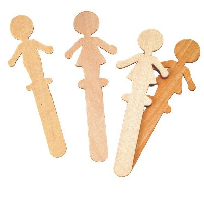 Creativity Street Wood People Craft Stick, 5-1/2 Inches, pk of 36
