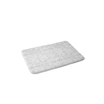 Schatzi Reeve Pattern Christmas Memory Foam Bath Mat Brown/White - Deny Designs