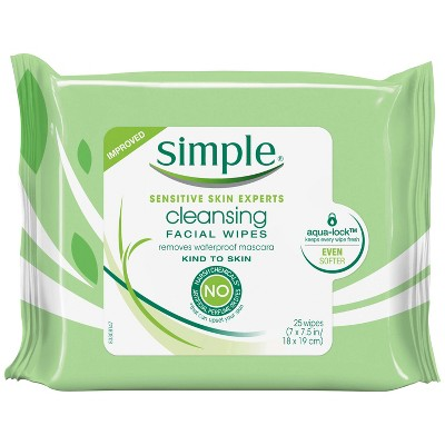 Simple Kind to Skin Cleansing Facial Wipes 25 ct