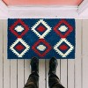"""TAG 1'6"""" x 2'6"""" Nomad Americana Coir Doormat Indoor Outdoor Welcome Mat American 4Th Of July Ikat - image 2 of 4"""