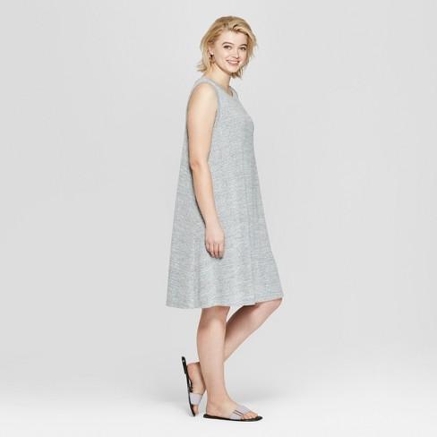 58f7396f949 Women s Plus Size Sleeveless Midi Swing Dress - Ava   Viv™ Gray Heather 4X    Target