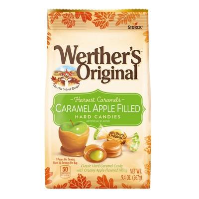 Werther's Original Halloween Caramel Apple Filled Hard Candies - 9.4oz