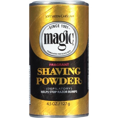 Magic Shaving Powder + Razorless Depilatory with Fragrance for Coarse Textured Beards - 4.5oz