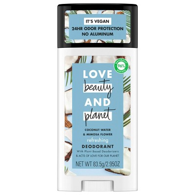 Love Beauty & Planet Aluminum Free Coconut Water & Mimosa Refreshing Deodorant Stick - 2.95oz