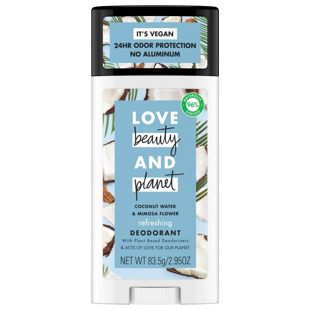 Love Beauty 38 Planet Aluminum Free Coconut Water 38 Mimosa Refreshing Deodorant Stick 2 95oz