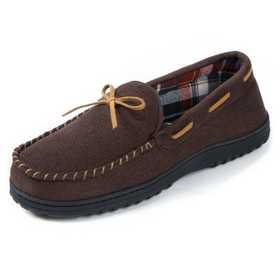 RockDove Men's Jacob Flannel Lined Moccasin Slipper