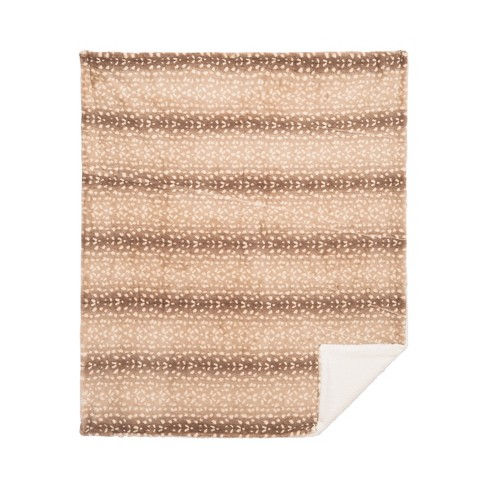 C F Home Spotted Deer Cotton Quilted Throw Target
