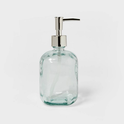 Recycled Glass Soap Dispenser Clear - Threshold™ - image 1 of 4