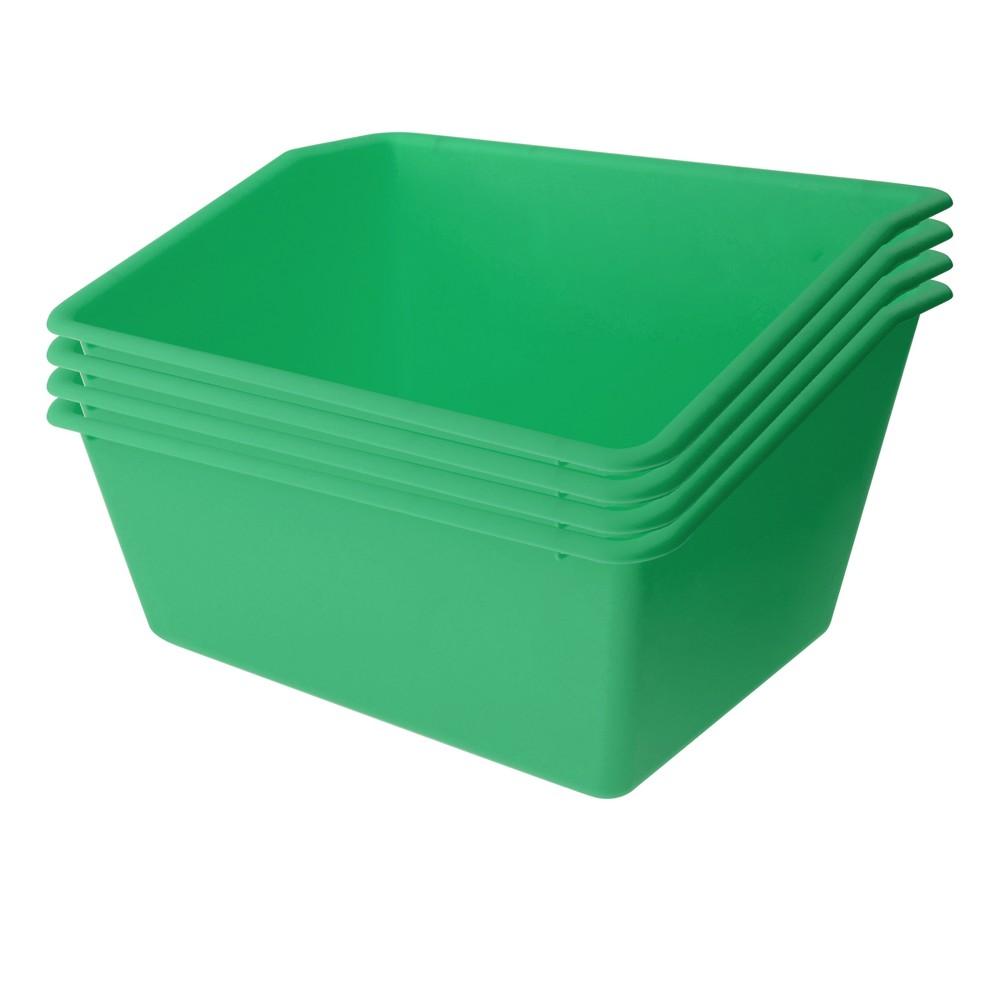 4ct Plastic Book Box Green - Bullseye's Playground