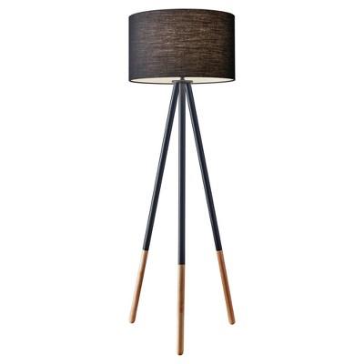 "60.25"" 3-way Louise Floor Lamp Black - Adesso"
