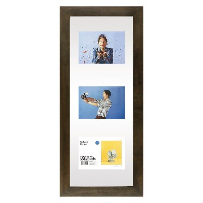 Float Frame - Gray - 10x26 Glass for 3 - 5x7 Photos - Room Essentials™