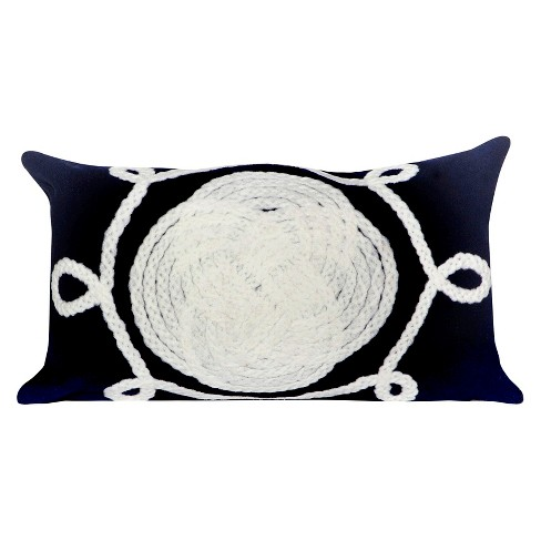 Navy Outdoor Throw Pillow - Liora Manne - image 1 of 1