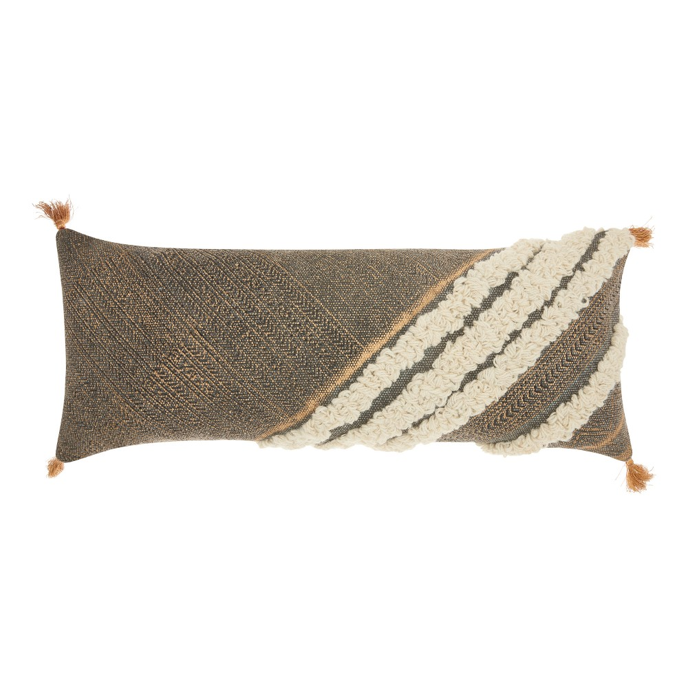 Gray Stripe Throw Pillow - Mina Victory