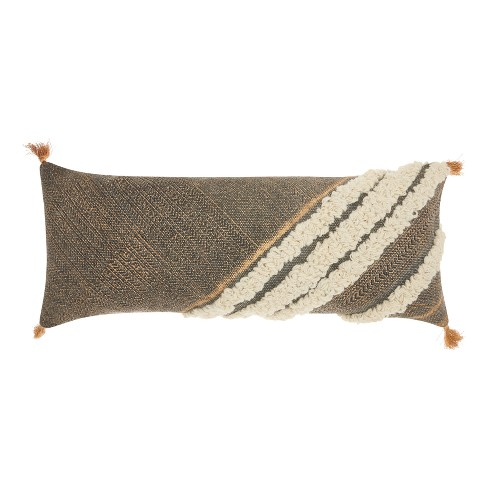 Gray Stripe Throw Pillow - Mina Victory - image 1 of 2
