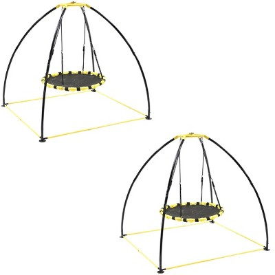 Jumpking JKBK-UFO Backyard 360 Degree Adjustable Height UFO Swing Set (2 Pack)
