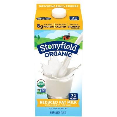 Stonyfield Organic 2% Milk - 0.5gal