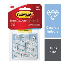 Command Clear Outdoor Light Clips With Foam Strips Value