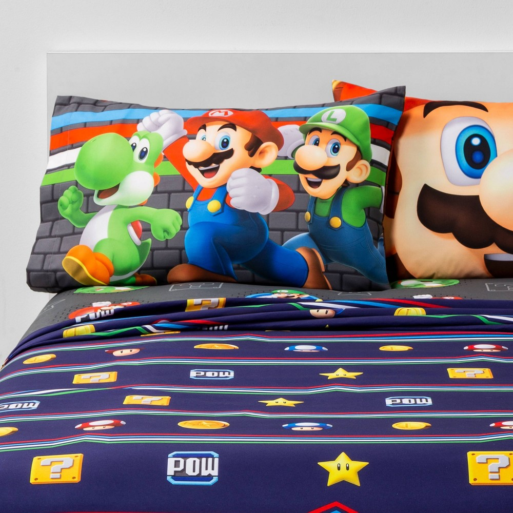 Image of Super Mario Full Trifecta Sheet Set
