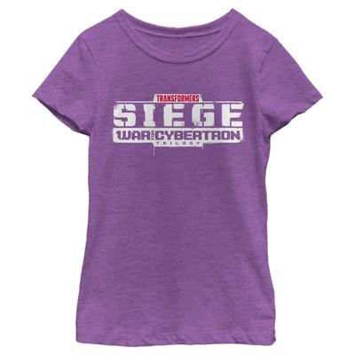Girl's Transformers Siege Logo T-Shirt