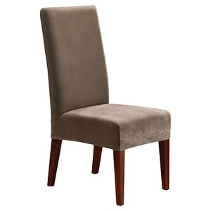 Stretch Pique Short Dining Chair Slipcover - Sure Fit, Brown