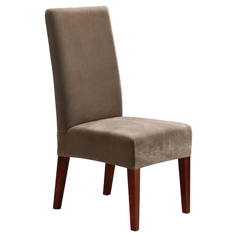 Surprising Stretch Pique Short Dining Chair Slipcover Sure Fit Creativecarmelina Interior Chair Design Creativecarmelinacom