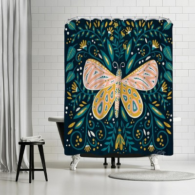 "Americanflat Butterfly Symmetry by Cat Coquillette 71"" x 74"" Shower Curtain"