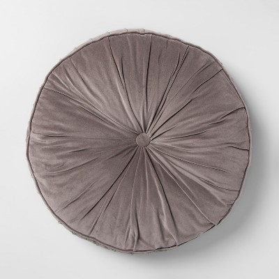 Velvet Round Floor Pillow Gray - Opalhouse™